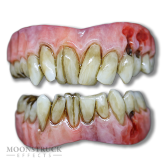 Lazarus Teeth - Custom Gum Color - Cracked & Rotten Teeth