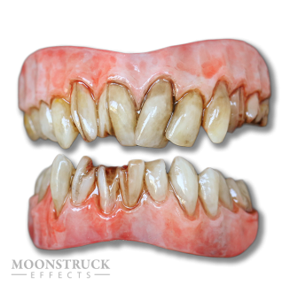 Lazarus Teeth - Inflamed Gums - Stained Finish with cracked Teeth