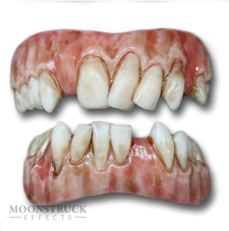 Lazarus Teeth - Dead Brown Gums - Stained Finish - Random Missing Teeth Alteration