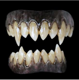 Korrigan Teeth - Dorian Grey Extra Black Gums - Stained Finish
